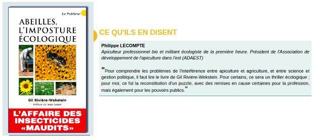 Critique de Mr Lecompte pour son ami Mr Wekstein